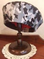 N様作・・・迷彩プリント手縫いのベレー帽