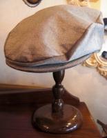 8月の帽子教室・・・コーデュロイのハンチング・・サンプル