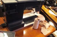2009年3月帽子教室/NS様ミシン製作中