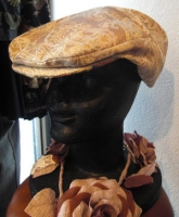 3月帽子教室/NSさん、始めての帽子製作ハンチング