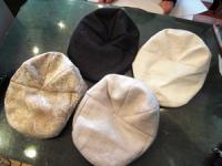 3月帽子教室/NSさん、始めての帽子製作ハンチングがいっぱい