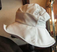 2009年5月帽子教室サンプル/広ツバのターバンハット