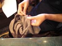 2009年9月帽子教室/スクリューベレー製作中のN様