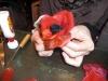 2009年12月帽子教室/Kさんコサージュ作