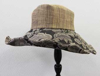 花柄ラファイヤ帽子