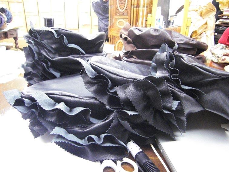 皮革フリルベレー