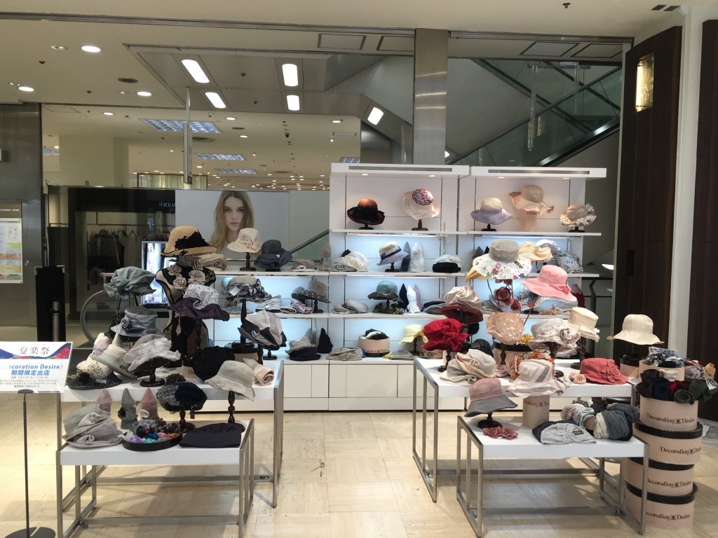 東急たまプラーザ店/Decoration Desire2017年初夏の帽子