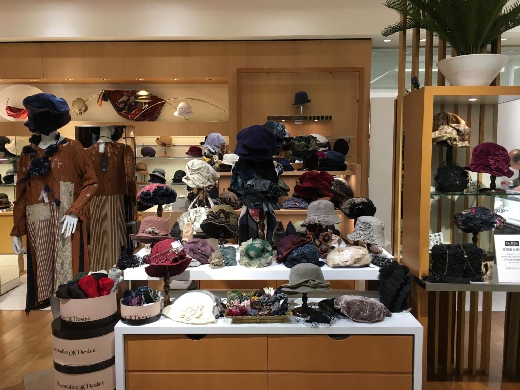 2019秋冬の帽子/伊勢丹浦和店/DecorationDesire