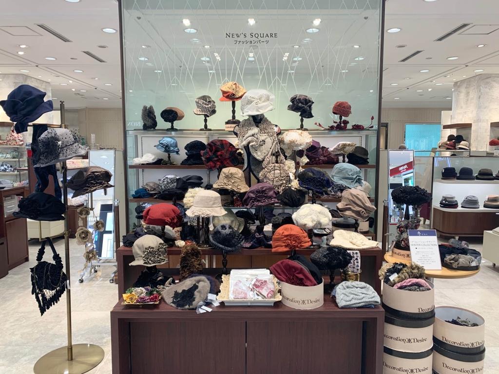 札幌三越/Decoration Desire2020年冬の帽子